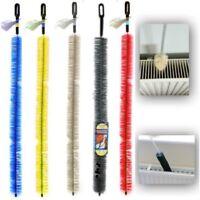 2 Long Handle Radiator Cleaning Bristle Brush Easy Reach Heater Dust Duster 70cm