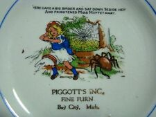 SOUVENIER PORCELAIN PLATE Advertising PIGGOT'S Furniture BAY CITY MI Michigan