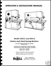 DoAll Band Saw  CONTOUR-MATC  Manual #2613-3 and 6013-3