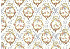 Wallpaper - Brodnax Prints  Victoria Blue miniature dollhouse 1/12 scale 1EC100B