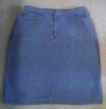 JENNIFER MOORE COLLECTION 100% COTTON DENIM BLUE JEAN SKIRT SZ 8 STRAIGHT STYLE