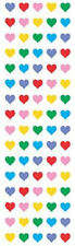 Mrs. Grossman's Stickers - Hearts - Micro Multi Color - Teeny Tiny - 4 Strips
