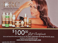 Natural & Organic Hair Care Products by Lawrence Ray Concepts - $100