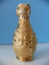 Vintage Savoy china hand painted 24 KT weeping gold vase