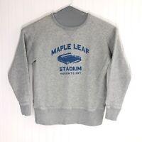 Ebbets Field Flannels Maple Leaf Stadium Toronto Canada Sweatshirt 100% Cotton M