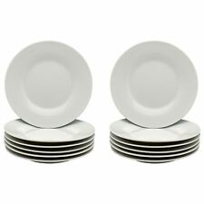 "White Side Plates Dessert Plate. Porcelain Tableware Crockery 154mm 6"" Set x12"