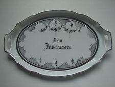 """kleine Platte (23,5x14cm), """"Dem Jubelpaar"""", original Jugendstil"""