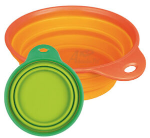 Trixie Travel Bowl, Silicone keeps shape well collapsible Ideal Walks Dog shows
