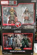Marvel Legends Studios Thor  Sif Hela Skurge 2 Packs Sealed not mint boxes