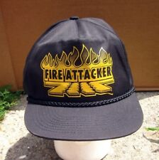 FIRE ATTACKER logo baseball cap Petersburg vtg hat Michigan 1990s fire trucks