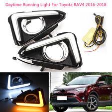 Xenon Halogen Fog Lamps Driving Light Kit for 2016 2017 2018 Toyota Rav4 Rav 4