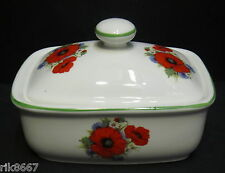 Poppy English Fine Bone China Butter Dish By Milton China