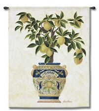 TUSCAN ITALIAN FRUIT PLANTER I ART TAPESTRY WALL HANGING 41x52