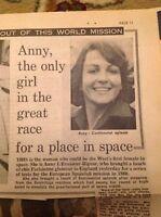 59101 Ephemera 1977 Article French Astronaut Anny L'evasseur Rigour