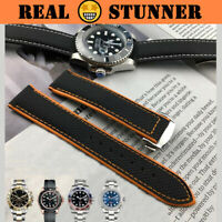 SPEED Nylon Leather Back Watch Band 19mm-22mm for Seamaster Speedmaster (New)