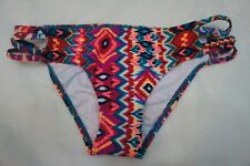 ROXY Bikini Bottom Sz M Multi Color Boy Brief Swimwear Swim Bottom Arjx403010