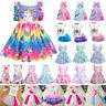 Kids Baby Girls Unicorn Princess Party Birthday Summer Holiday Casual Tutu Dress