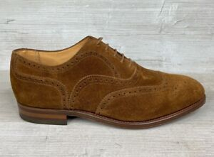 Shipton & Heneage, Brown Suede Brogues, Made in England,  Mens Sz 8 F