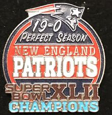 New England Patriots 2007 Perfect Season ERROR Pin Super bowl 42 champs 19-0