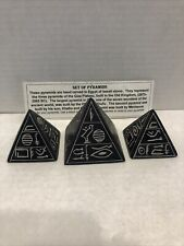 New listing Basalt Stone Egyptian Hieroglyph Pyramid Paperweight Hand Carved
