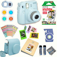 Fujifilm Instax Mini 8 Camera + fuji Instant Films + Instax Accessory KIT 15+PCS