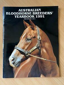 Australian Bloodhorse Breeder's Yearbook 1991 Magazine VGC