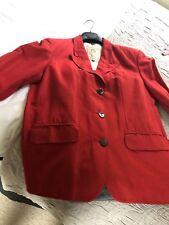 Jigsaw Red Jacket Size 2 ( 12)