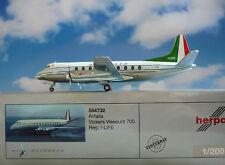 Herpa Ali 1:200 Viscount Di Vickers 700 Alitalia I-VITA 554732