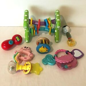 Baby Toy Lot Activity Ball Teether Rattle Developmental Play Links Stroller Toys