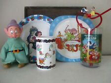 Disney Snow White Seven Dwarfs Snack Set  Plates  Mug  Straw Glass  Dopey Figure