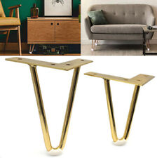 4Pcs Gold Hairpin Legs Protectors for Furniture Legs Sofa Cabinet Furnitur new