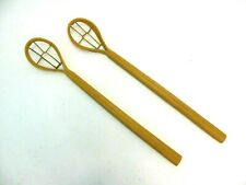 Pair of Wooden Lacrosse Sticks