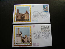 FRANCE - 2 enveloppes 1er jour 1980 (montauban/chateau maintenon) (cy38) french