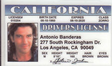 Antonio Banderas - Puss in Boots of Shrek / ZORRO star   card Drivers License