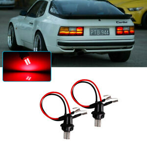 For Porsche 944 924 951 LED Red Add-On Extension Tail Lights Mod Kit PLUG & PLAY