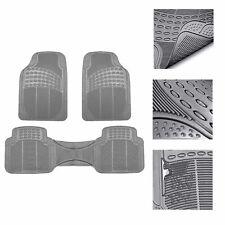 Universal Floor Mats For Car All Weather Heavy Duty 3pc Rubber Set Gray Fits 2003 Honda Pilot