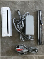 Nintendo Wii White Backwards Compatible Gamecube Console Authentic Cords TESTED