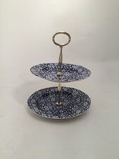 Calico 2 Tier Cake Stand (Small) by Burleigh - Burgess & Leigh