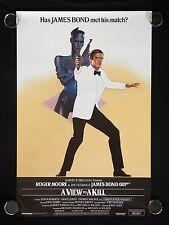 A View To A Kill 1985 RECALLED British One Sheet Poster James Bond