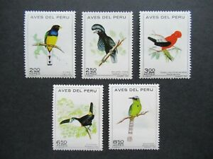 EARLY VF MINT NEVER HINGED SET 2 TO 8,5S PERU WILDLIFE BIRDS FAUNA B426.2 S$0.99