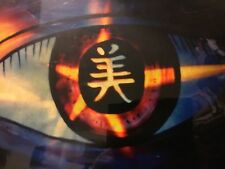 Rare Urban Surrealism Asian Abstract Oriental Evil Eye Art Pop Painting Tattoo
