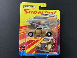 Matchbox Ford Sedan a Medida 1936 Oro Superfast GBJ48-956E 1/64
