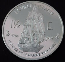 2004 Saint Martin City of Paris War Ship History of French Navy 1 oz Silver NWTM
