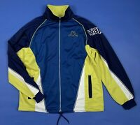 Kappa felpa tuta blu L vintage usato uomo unisex giacca jacket sport wear T5349