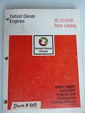 DETROIT DIESEL ENGINE/JOHN DEERE PARTS CATALOG 6359D 6359T 6359A