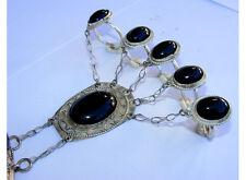 orient afghan nomaden tribal Armreif handschmuck Bracelet hand jewelry Onyx