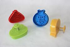 Angry BIRDS pasticceria & Sugarcraft Estrattore stantuffo CUTTER 4 in confezione blister