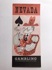 1950s Nevada Gambling Industry Economics Brochure