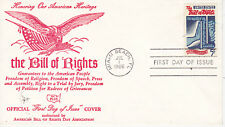 POSTAL HISTORY - FIRST DAY COVER FDC BILL OF RIGHTS OFFICIAL FDC BY FDC PLUS
