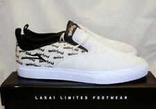 LAKAI x Motorhead Riley II White Mens 11 Suede Canvas Sneaker Slip on Lemmy